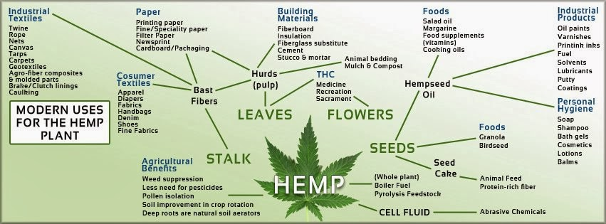 Modern Uses for the Cannabis Plant - Industrial Textiles - Paper - Building Materials - Foods - Industrial Products - Personal Hygiene - Agricultural Benefits - Seeds - Leaves - Flowers - Hempseed Oil