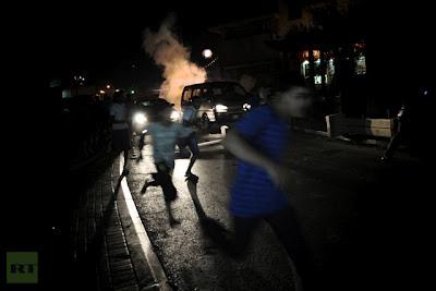la proxima guerra protestas manifestaciones bahrain policia dispara gas lacrimogeno
