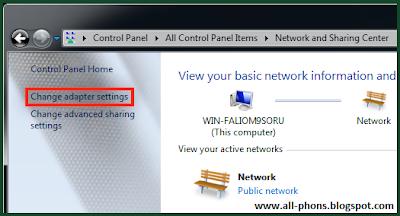 how to change public ip address windows 7