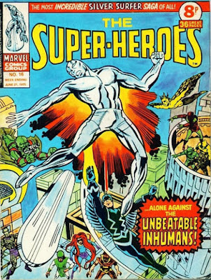 Marvel UK, The Super-Heroes #16, Silver Surfer vs the Inhumans