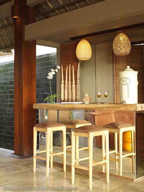foto ruang bartender dalam rumah rumah minimalis modern