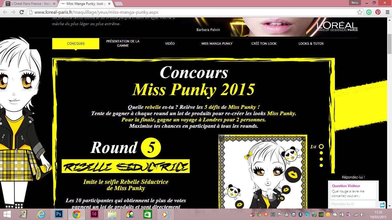 L'hideuse campagne miss manga punky