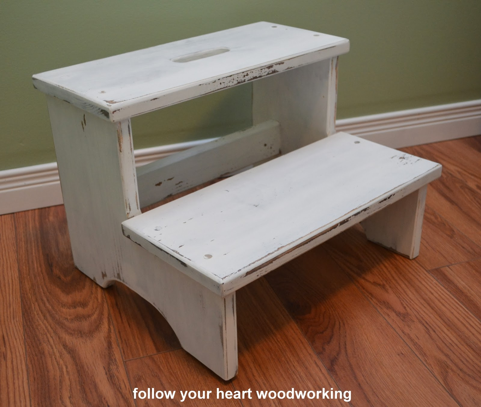 I made this stool from pine but you could use an old stool and use the same finishing techniques as I did. Because mine was raw wood first it was stained. & follow your heart woodworking: Building and Finishing a Step Stool ... islam-shia.org