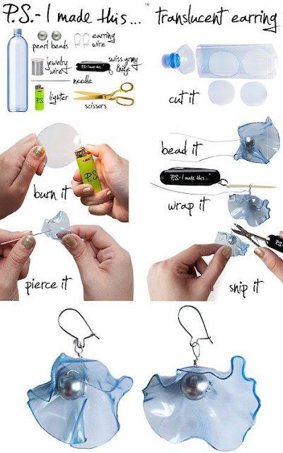 Manualidades : Bisuteria reciclada a partir de botellas de plástico