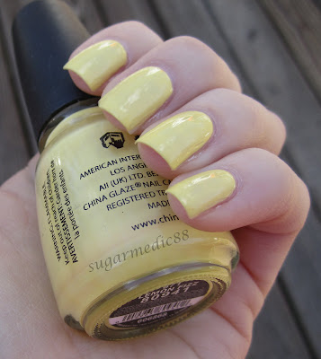 China Glaze Lemon Fizz Swatch