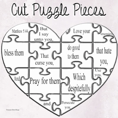 Heart Puzzle Piece Coloring Pages