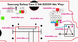 Samsung Galaxy Core 2 G355H MIC jumper ways