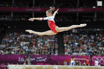 Gymnastics Split Leap Russian gymnastics