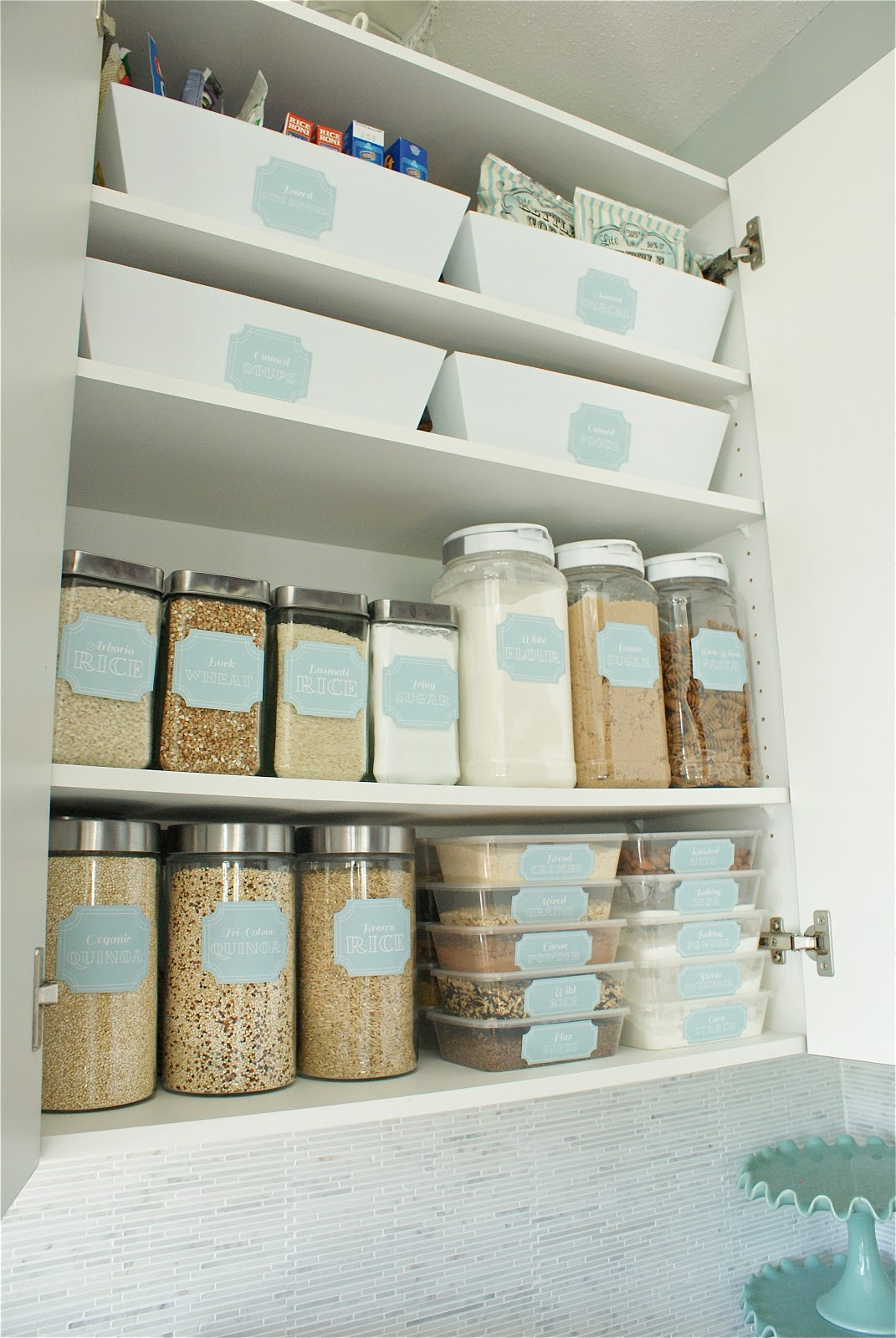 home kitchen pantry organization ideas mirabelle On kitchen organization