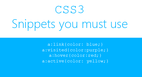 3 CSS3 snippets you must use