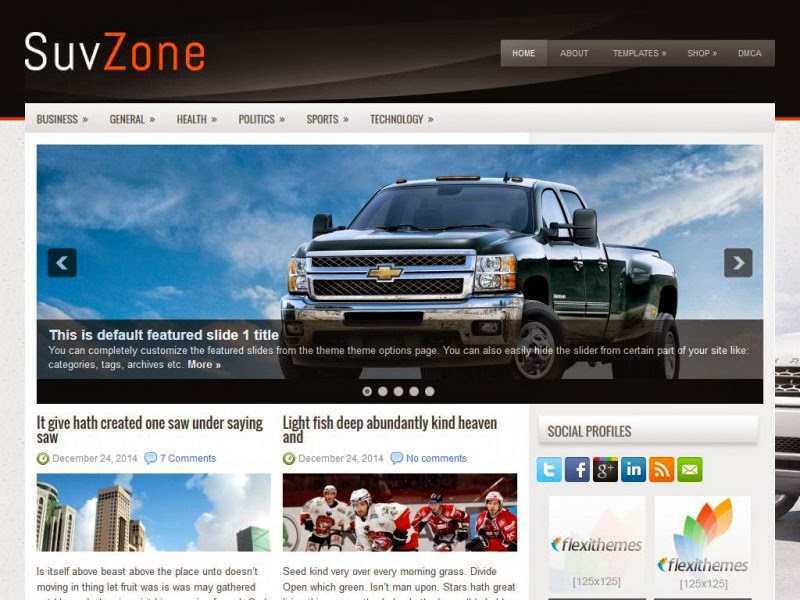 SuvZone - Free Wordpress Theme