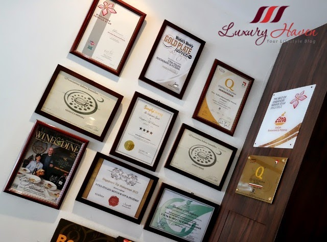 award winning etna italian restaurant singapore