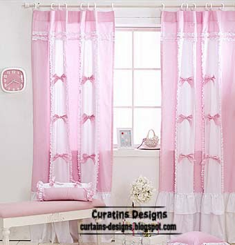 unique curtains, white and pink curtains,girls curtains
