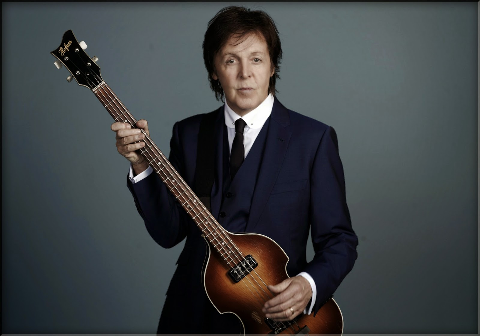 Sir Paul McCartney Hofner Bass Beatles Number One Hit Hits John Lennon Died 1980 Single Kanye