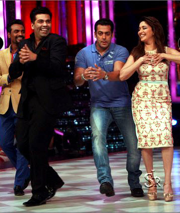 Salman Khan and Madhuri Dixit in Jhalak Dikhhla Jaa