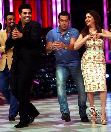 Salman Khan and Madhuri Dixit in Jhalak Dikhhla Jaa