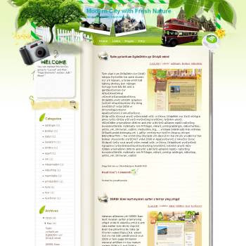Modern City with Fresh Nature template blog from wordpress. travel blog template. template blogger travel for blog