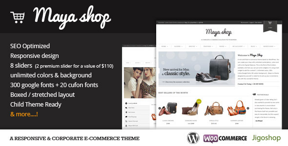 MayaShop WordPress Theme Free Download by ThemeForest.