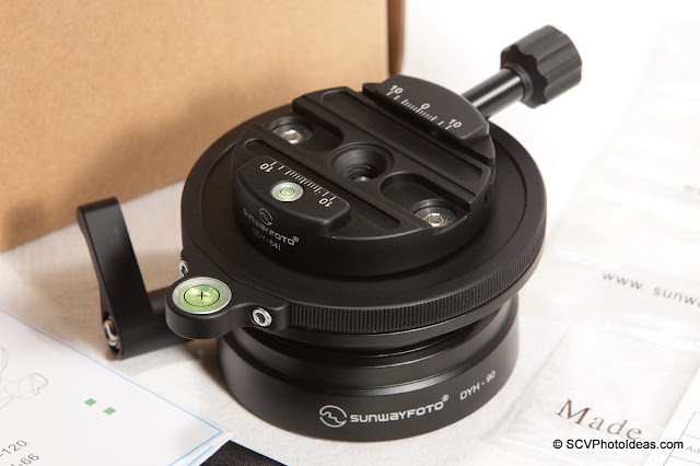 Sunwayfoto DYH-90 Leveling Base + DDY-64iL QR clamp combo overview