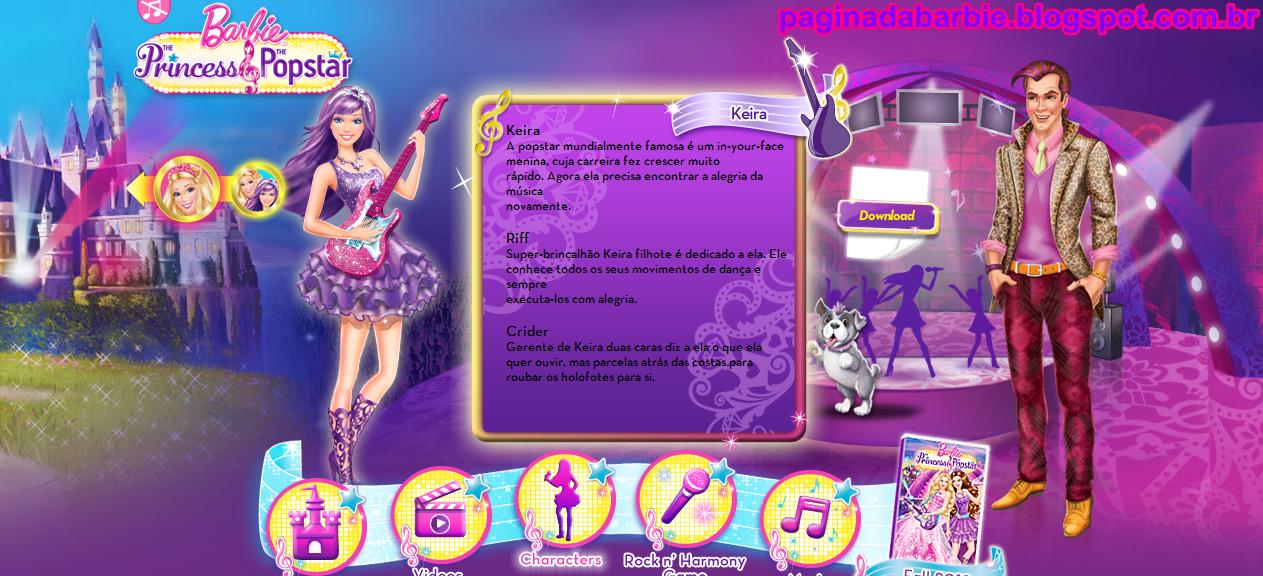 Barbie A Princesa E Popstar Site Americano V Deos