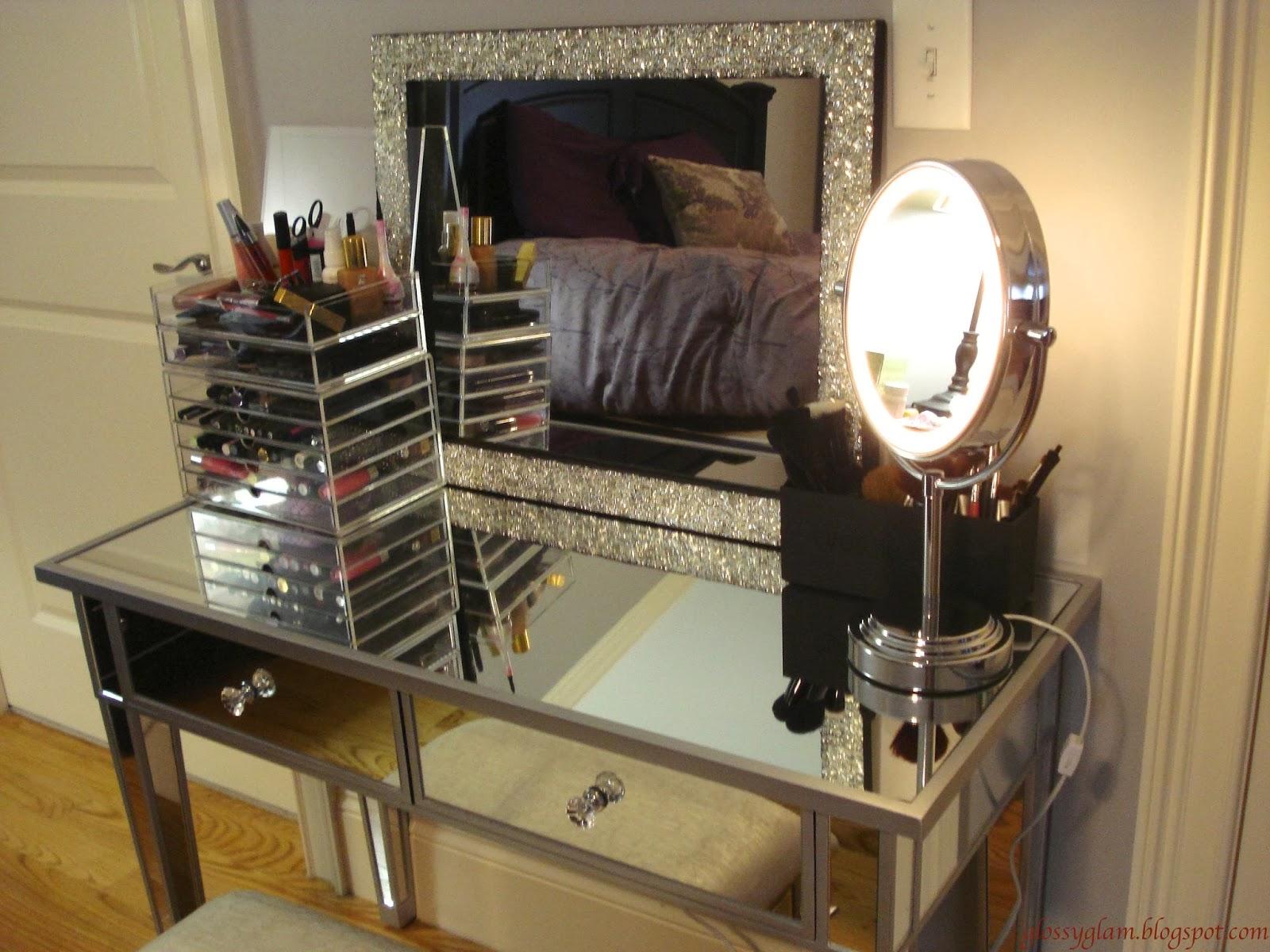 Black Makeup Vanity With Lights Viewing Gallery