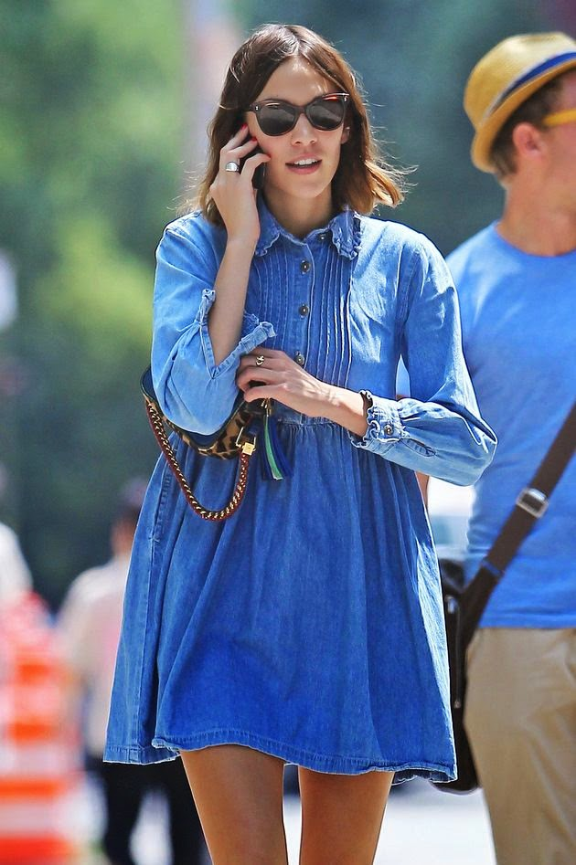 alexa_chung_denim_dress_street_style