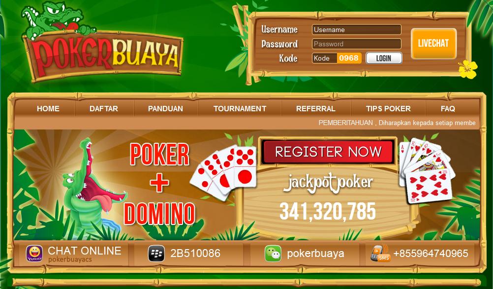 screenshot halaman depan situs pokerbuaya.com