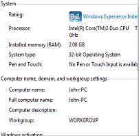 check computer configuration