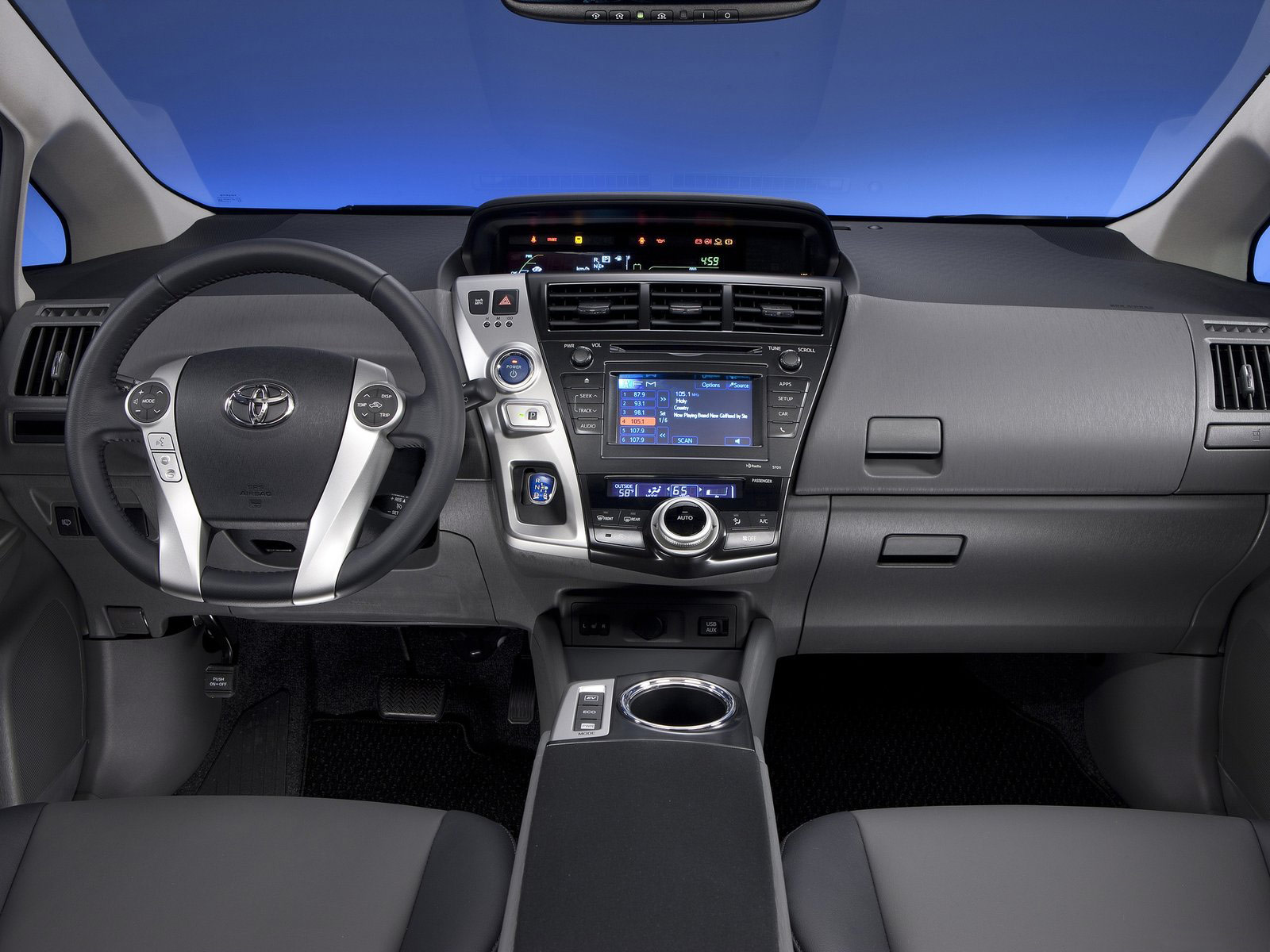 Japanese Car Photos 2012 Toyota Prius V Interior With