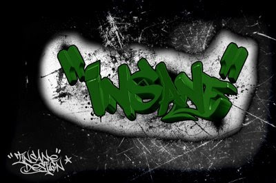 graffiti alphabet with 3d style design by insane