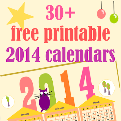 40+ free printable 2014 calendars - ausdruckbare Kalender 2014 - links