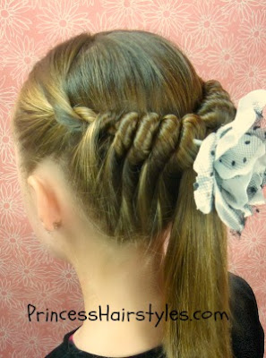 wrap and tuck hairstyle