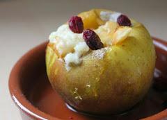 Receta de cocina : manzana asada