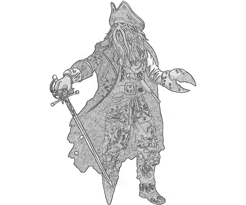 davy-jones-character-coloring-pages
