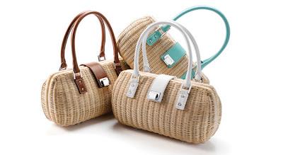 Bolsos para el verano ; los bolsos de mimbre y rafia.