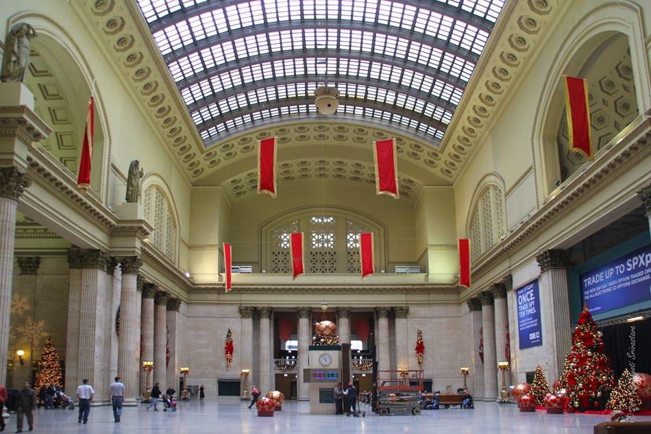 chicago union station - Chicago Christmas Station
