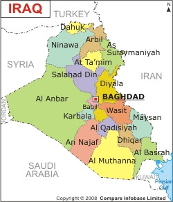 Iraq Map Political Regional