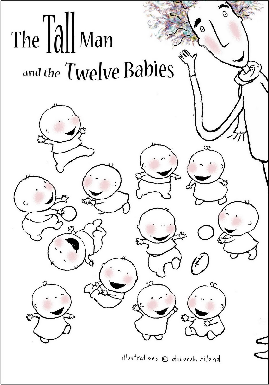 Colour activities babies - Colour All The Babies In Different Colours See How Unalike You Can Make Them The Tall Man And The Babies Like To Be Bright And Happy