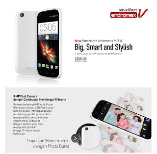 Gambar dan harga Smartfren Andromax V Android Phablet