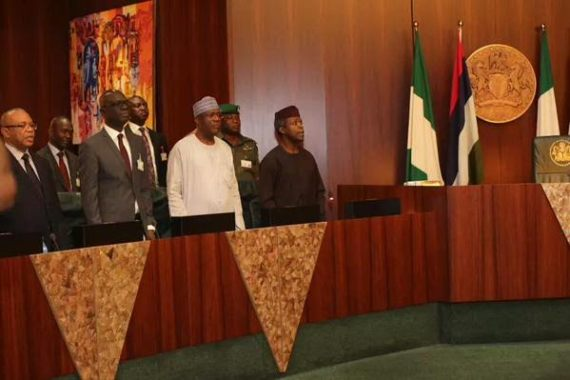 State Governors at the National Economic Council Meeting Today