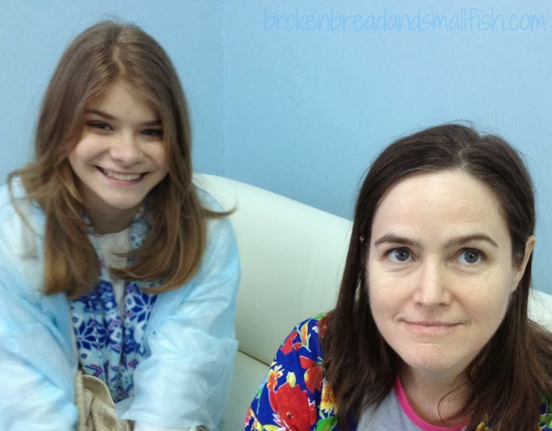 Michele and her daughter in the clinic after hysterectomy in Novosibirsk, Russia.