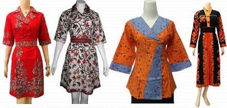 beberapa model seragam batik wanita kantor