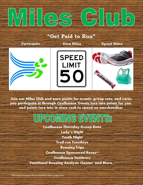 Confluence Running Miles Club Sign Up - Get Paid to Run, Participate, Earn, Spend