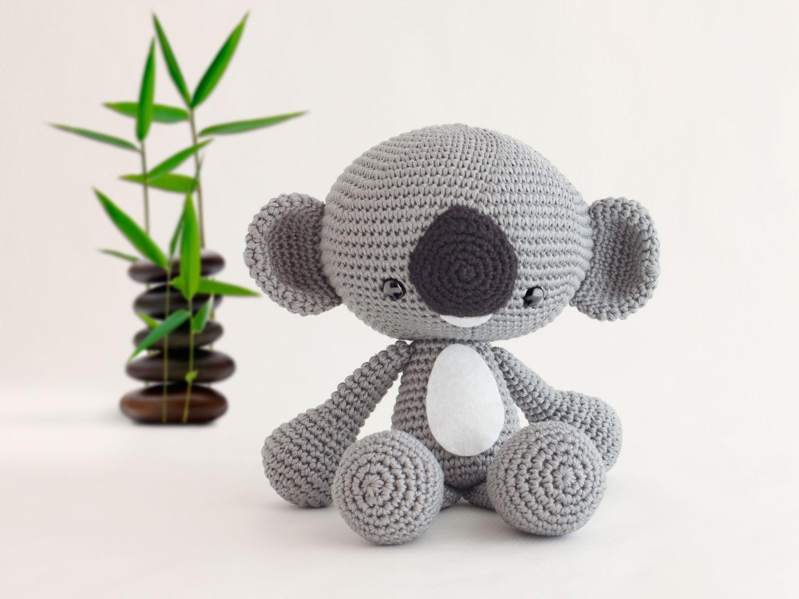 Amigurumi Koala Yapilisi : Mis PequiCosas: Un koala jardinero