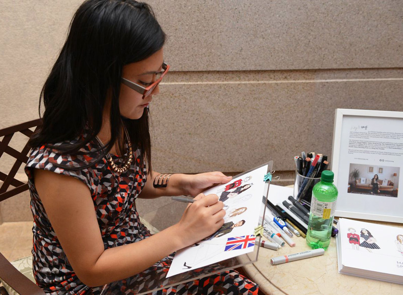 Kitty N. Wong / Marks and Spencer Live Sketch Artist