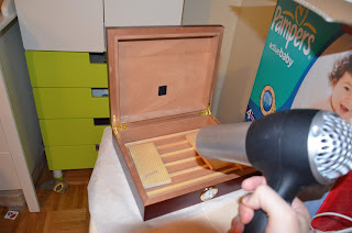Cigar humidor - Disinfection with hot air