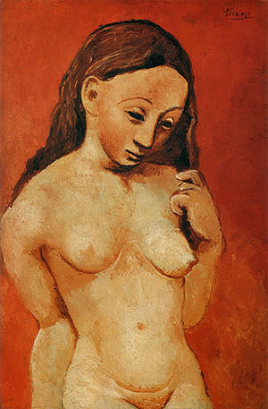Their salons functioned as galleries. Picasso, Nude on a Red Background, ...