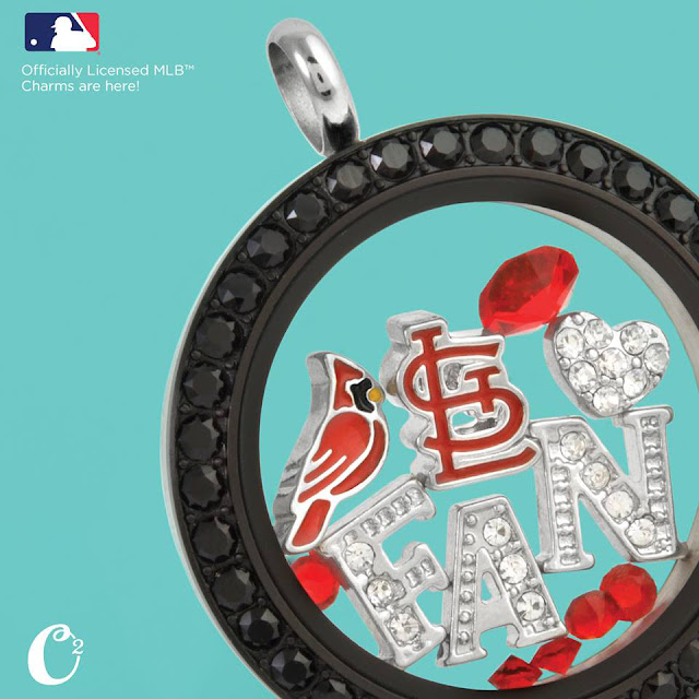 St. Louis Cardinals Baseball Origami Owl Living Locket available at StoriedCharms.origamiowl.com