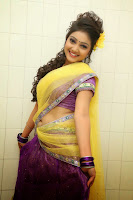 TV Anchor Priyanka in Half Saree Navel Show still-1