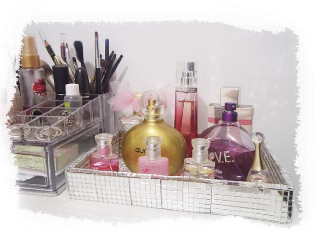 passo a passo diy bandeja de perfumes espelhada